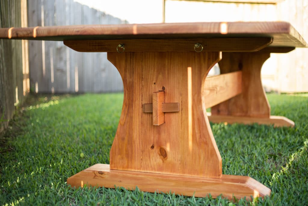 Table made of Construction Lumber