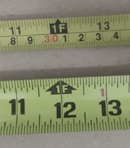 One Foot Marking on a Tape Measure