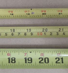 19.2 on center markings on a tape measure