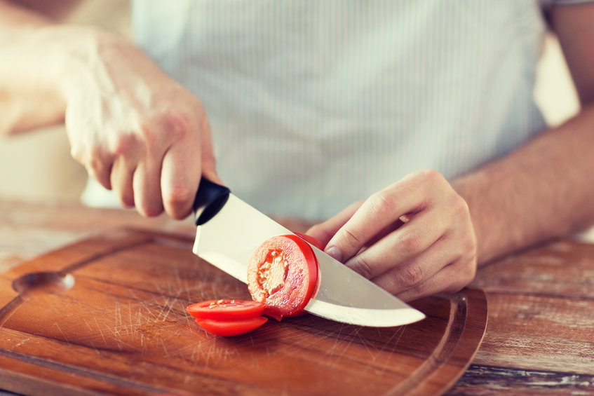 Stock Photo of a cutting board